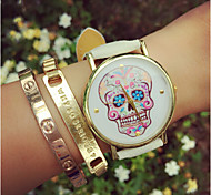 Top Selling! Women'S Watches Skull Watch Fashion Leather Quartz Wristwatch Jewelry For Summer Gift Idea