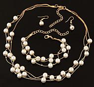 Niedlich / Party / Büro / Freizeit-Damen-Halskette / Ohrring / Armband(Legierung / Kunst-Perlen)