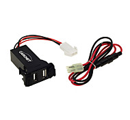 Car 2.1A Dual Usb Port Socket Cell Phone Charger + Audio Input For Suzuki