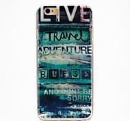 copertura lingua graffiti IMD TPU stampato posteriore delicatamente per iphone6plus / 6splus (colori assortiti)