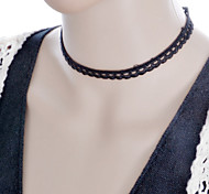 Graceful Vintage Gothic Style Exquisite Velvet Double Choker Necklace Torque