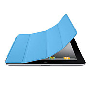 DF Solid Color Auto Sleep/Wake Up PU Folding Case for iPad 2/3/4
