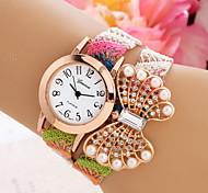 Damen Modeuhr Armband-Uhr Quartz Stoff Band Mehrfarbig 1 # 2 # 3 # 4 # Regenbogen