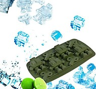 Robot Winder Ice Cube Tray Silicone Soap Chocolate Pop Out Fundant Mould Mold (Random Color)