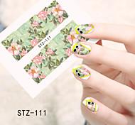 1pcs  Water Transfer Nail Art Stickers  Colorful Flower Nail Art Design STZ111-115