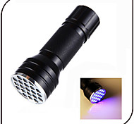 21 LED UV Flashlights/Torch Black Waterproof / Counterfeit Detector /395nm Wavelength / AAA battery /