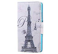 For Huawei Case Wallet / Card Holder / with Stand Case Full Body Case Eiffel Tower Hard PU Leather Huawei Huawei Honor 5X