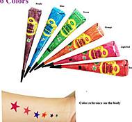 12x colorato golecha hennè cono pasta tatuaggio temporaneo Jagua Ink Art Kit mehandi corpo