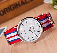 Women's Fashion Stripe Quartz Analog Fabric Bracelet Watch(Assorted Colors) Cool Watches Unique Watches