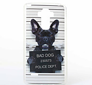 Dog Pattern TPU+IMD Soft Case for LG LS770