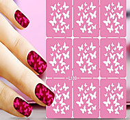1pcs  Nail Art Hollow Stickers New Design Heart Glass Mushroom Interesting Geomestric Shape  Nail Art Beauty   L131-140