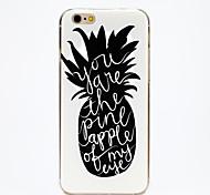 copertura lingua ananas IMD TPU stampato morbida posteriore per iPhone 6 / 6s (colori assortiti)