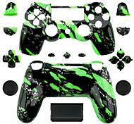Ersatz-Controller Fall für PS4-Steuerung (grün Splash)
