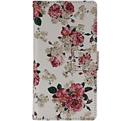 Peony Fower Painted PU Phone Case for Galaxy A3/A5/A7/A310/A510/A710