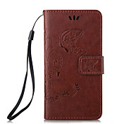 Butterfly Pattern Embossed PU Leather Material Phone Case for iPhone 5/5S