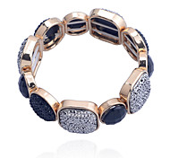 Fashion Gem Square Drill Alloy Bracelet