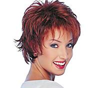 жен. Короткий Естественные волны Искусственные волосы Машинное плетение Без шапочки-основы Парик из натуральных волос