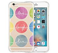 rire jusqu'à ce que la vie est amour silicone transparent doux retour cas pour iphone 6 / 6s (couleurs assorties)