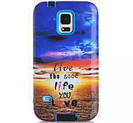 macio TPU silicone caso de telefone gráfico para Samsung Galaxy S5 o pôr do sol impresso capa protetora de plástico