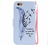 Feather Pattern PU Leather Material Phone Case for iPhone 6/iPhone 6S