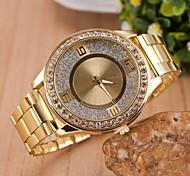 Women Fashionable Quartz Wrist Fashion Watch Diamond Alloy Band