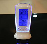 venta creativa reloj de regalo reloj electrónico luminoso reloj de la música tabla de temperatura de visualización del reloj calendario