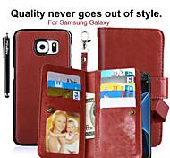 2 en 1 9 tarjetas de las cajas del teléfono de cuero Sot carpeta de la PU magnéticos extraíbles Nota 4 / Note5 / Grand cebado / primer