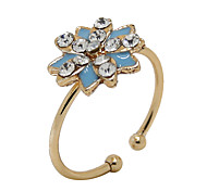 South Korea All-Match Fashion Color Diamond Zircon Oil Sun Flowers Mouth RingImitation Diamond Birthstone