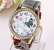 Ladies' Watch Korean Fashion Big Butterfly Pattern Printing Diamond Dial Watch