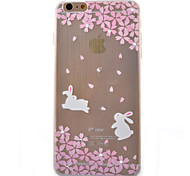 White Rabbit Coloured Drawing Slim TPU Material Phone Case for iPhone 6/6S