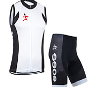 Set di vestiti/Completi-Ciclismo-unisex-Maniche corte-Asciugatura rapida / Anti-polvere / Antivento / Materiali leggeri / Pad 3D / Morbido