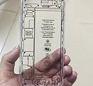 teste padrão da placa de circuito do caso do material de telefone de acrílico transparente para iPhone 6 Plus / 6s mais