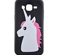 Pony Pattern TPU Phone Case For Samsung Galaxy J1 /Galaxy J5 / G5308 / G360