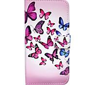 Schmetterlinge Relief gemalt Halter PU-Kasten für Samsung-Galaxie s5 / s6 / s6 edge / s7
