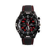 Мужской Наручные часы Кварцевый силиконовый Группа Черный
