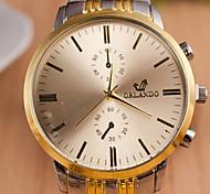 Masculino Assista Quartz Relógio de Moda Relógio Casual Lega Banda Relógio de Pulso