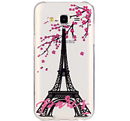 Plum Eiffel Tower PatternTransparent Soft TPU Back Case for Galaxy J5/Galaxy J5(2016)