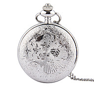 Unisex Pocket Watch Madaochenggong Silver Quartz Flip Pocket Watch Cool Watches Unique Watches