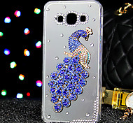 For Samsung Galaxy Case Rhinestone / Transparent Case Back Cover Case Animal Acrylic Samsung A7 / A5