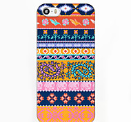 Orange National Wind Pattern ABS Hard Back Case for iPhone 5/5S/SE