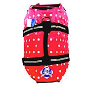 Dog Life Vest / Vest Red / Blue Dog Clothes Summer / Spring/Fall Polka Dots Waterproof