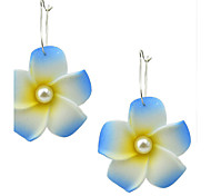 New Model Foam Made Flower Drop Earrings