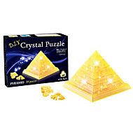 Diy 3 D Crystal Pyramid Blocks Puzzle Children Educational Toys Creative Small Ornament Toys Without Light