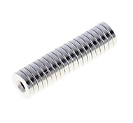 DIY 15*3mm Cylindrical Neodymium NdFeB Magnet(20PCS) Silver