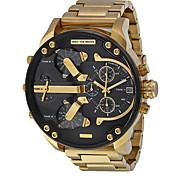 homens relógio de quartzo calendário relógio esportivo impermeável genuína de aço inoxidável relógio de pulso montre reloj relogio