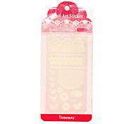 Tiebeauty Sticker PVC Flower Nail Jewelry