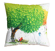3D Design Print  Green Tree Decorative Throw Pillow Case Cushion Cover for Sofa Home Decor Polyester Soft Material