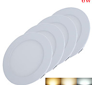 4pcs/lot 6W Round NON-dimmable LED Panel light 2800-6500K SMD 2835 Epistar chip DC 12-24V
