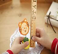 1PC Cute Animal Wood Photo Clip / Fashion Cartoon Wooden Flower Pot Message Card Folder/Memo Clips(Style random)