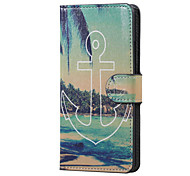 For LG Case Card Holder / with Stand / Flip / Pattern Case Full Body Case Anchor Hard PU Leather LG